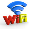 Colorful WiFi symbol in three dimensional shape